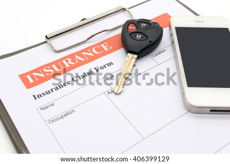 Car insurance form - stock photo