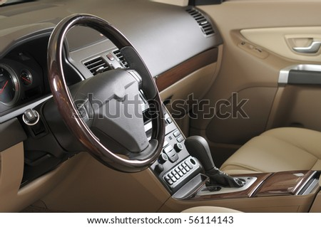 Car interior - a series of NEW CAR images. - stock photo