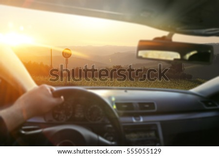 car interior and summer time