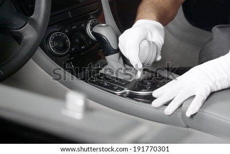 Car interior cleaning 1 - stock photo