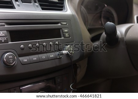 car interior detail.