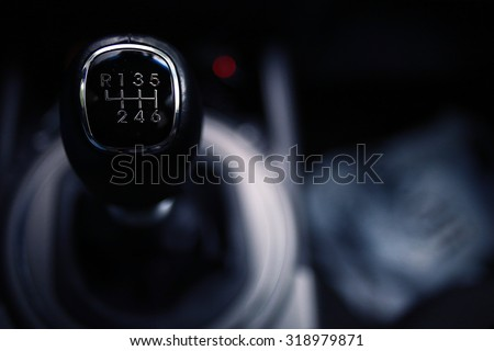 car interior - devices, the concept of driving - stock photo