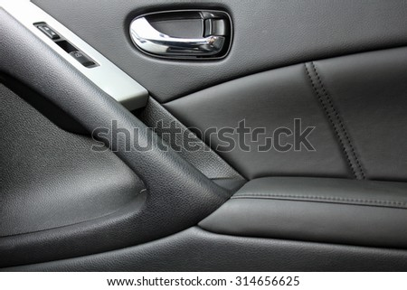 car interior door panel - stock photo