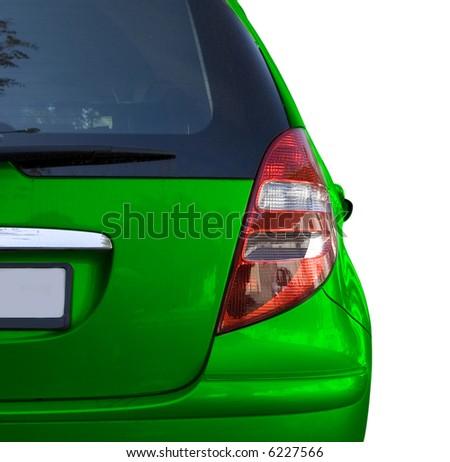 Car isolated on white - stock photo