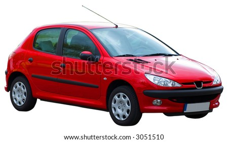 Car isolated on white background - stock photo