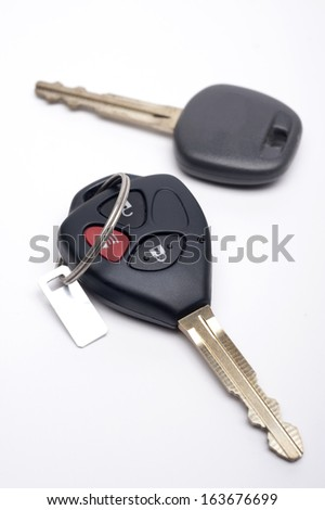 Car Key and Remote on a white background