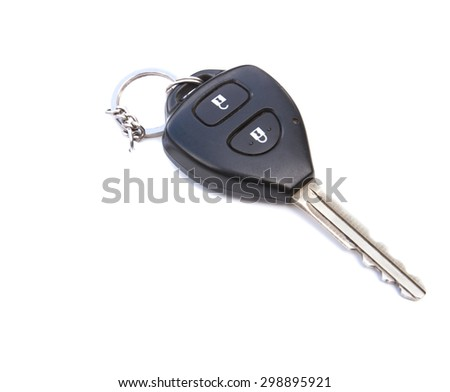 Car key, Car key object isolated on a white background, Car key control new technology, Car key wireless on white, Car key auto microchip, Key of car remote, Car key security, Car key protection