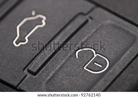 car key close up - stock photo
