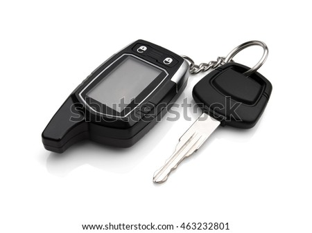 Car key isolated on white