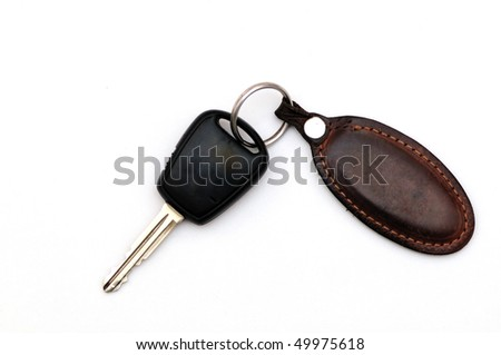 Car key isolated on white back ground - stock photo