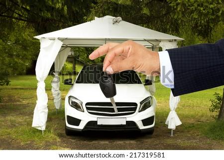 Car Key & sale - stock photo