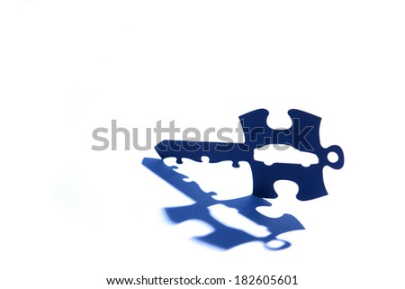 car key with puzzle code - stock photo