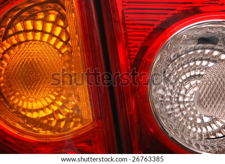 car lamp close-up - stock photo