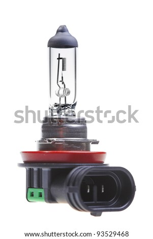 Car lamp isolated on white background - stock photo