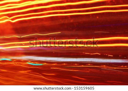 Car light trails on the street at night. - stock photo