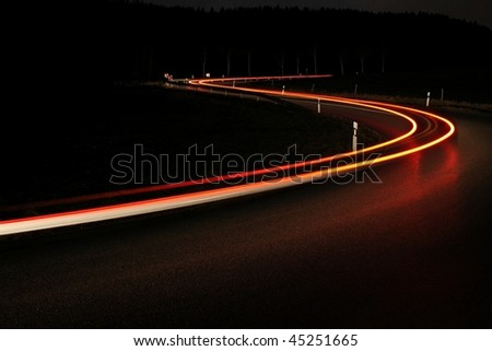 car ligth - stock photo
