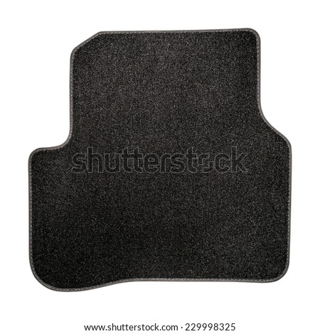 Car mat  isolated on white. Interior detail - stock photo