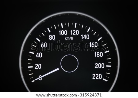 car milage - stock photo