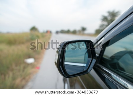 Car Mirror - stock photo