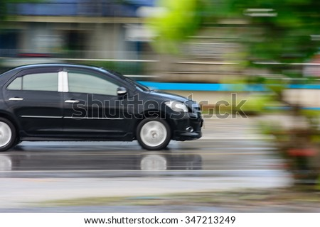 Car motion - stock photo