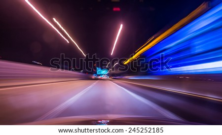 Car moving on the high way  - stock photo