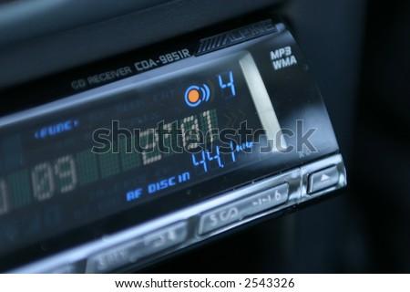 Car music system - stock photo