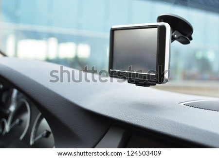 Car navigation system - stock photo