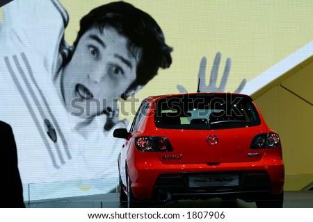 Car on display - stock photo