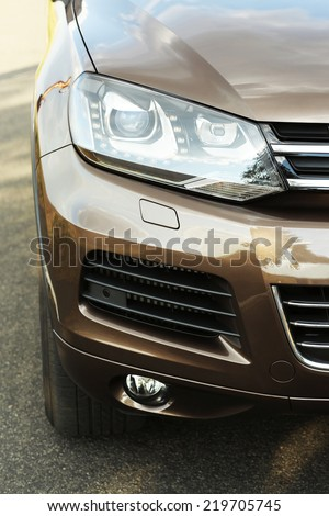 Car on road - stock photo