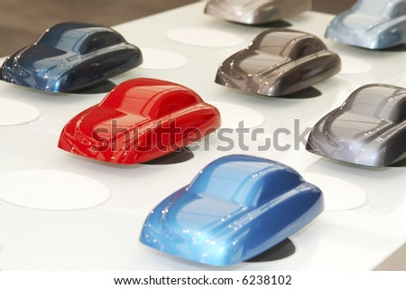 car paint samples - stock photo