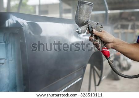 car painting - stock photo