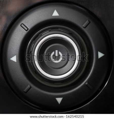 Car panel switch - stock photo