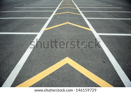 Car park. - stock photo