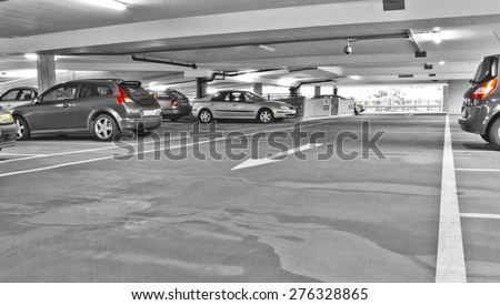 Car park - stock photo