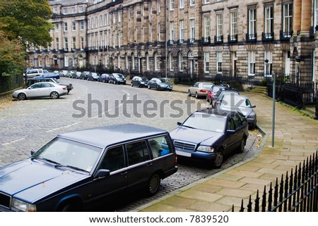 Car parking at the street - stock photo