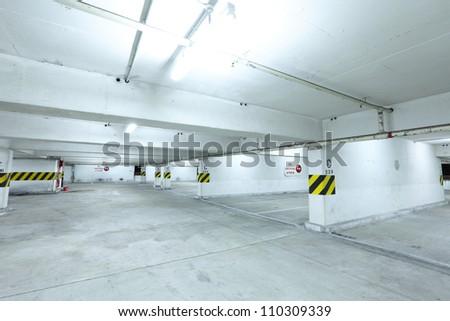 car parking level - stock photo