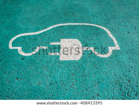 Car parking space for an electric car charging point.
