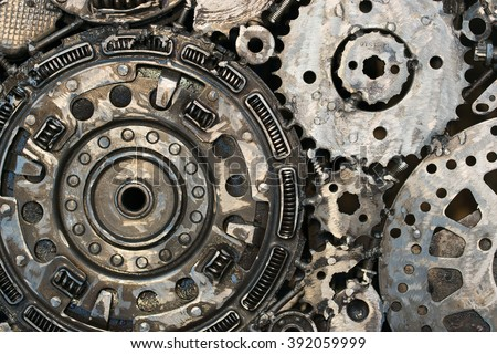 car parts on close up, background - stock photo