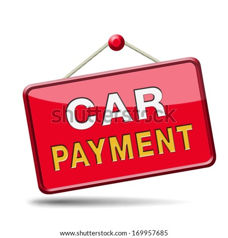 car payment or loan from bank financing for expensive first mobile buying on credit