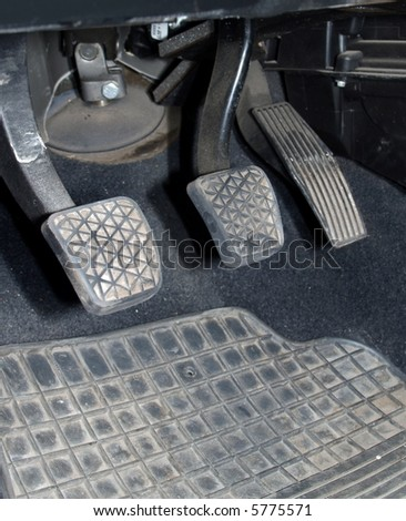Car pedals - stock photo