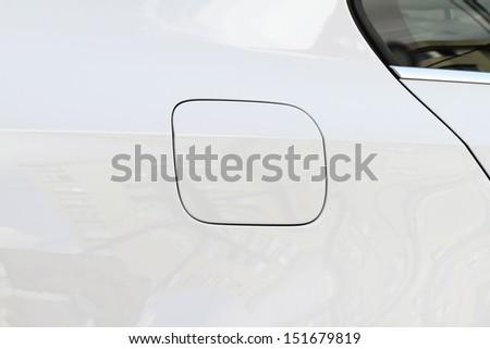 car petrol lid close-up  - stock photo