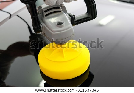 Car polish - stock photo