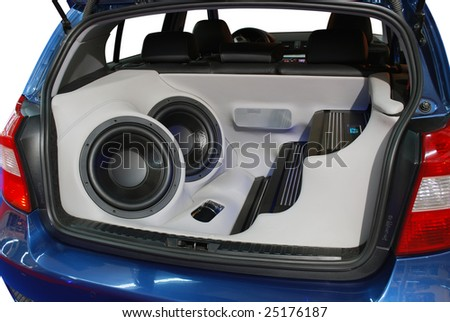 car power music audio system - stock photo