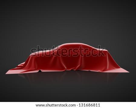 car presentation on a black background - stock photo