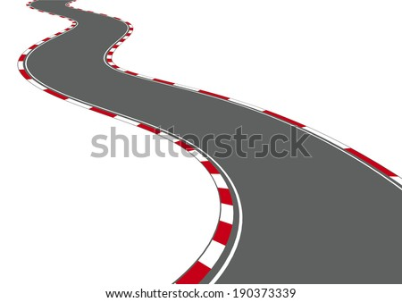car racing track on white  Race Track Wallpaper Clipart