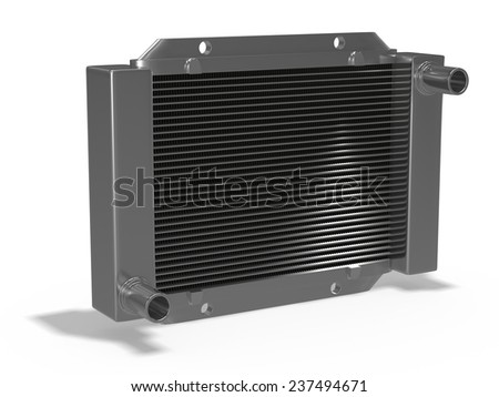 Car radiator - stock photo