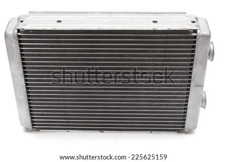 car radiator heater isolated on white background - stock photo