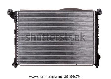 Car radiator isolated on white background - stock photo