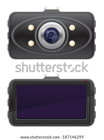 car recorder illustration isolated on white background - stock photo