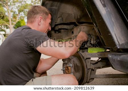 Car repair - stock photo